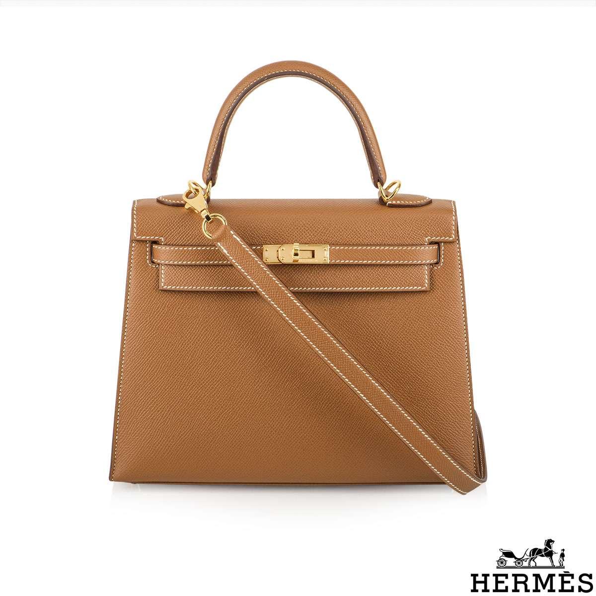 Hermès 25cm Gold Veau Epsom Kelly Bag